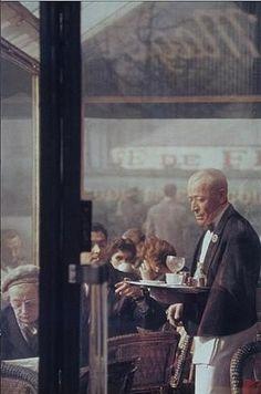 Saul Leiter, Waiter, Paris, 1959