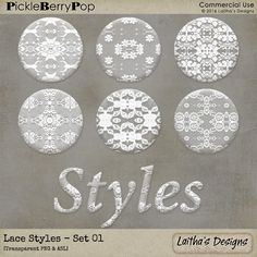 Lace Styles - Set 01 By Laitha's Designs