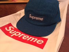 db0cc37c52c Supreme wool Camp Cap teal blue NEW WITH TAG  fashion  clothing  shoes