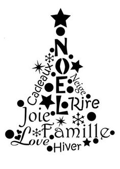 Pochoir Adhésif 28 x 20 cm SAPIN NOEL & LETTRAGES Christmas Time, Christmas Crafts, Merry Christmas, Christmas Decorations, Xmas, Christmas Ideas, Silhouette Portrait, Silhouette Cameo, Diy Crafts To Do