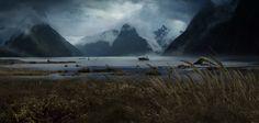 ArtStation - Alien Covenant - Lander Approaching, Wayne Haag