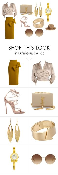 dress to impress by lisa-elijah on Polyvore featuring Yves Saint Laurent, Roksanda, Dsquared2, Salvatore Ferragamo, Kenneth Jay Lane, John Lewis, Victoria Beckham and rag & bone