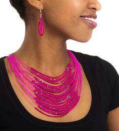 ... Modern Maasai Beaded Necklaces - Jewelry Handmade in Africa - Swahili Modern - 3 ...