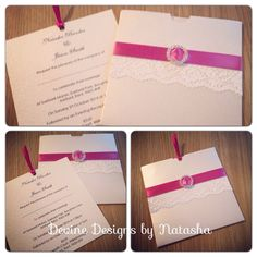 Beautiful wallet invitations <3