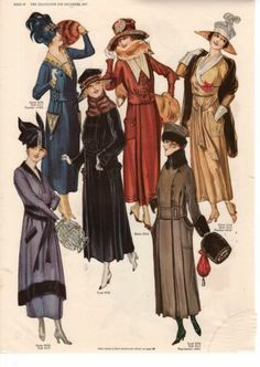 1917 Delineator Winter Coats Hats and House Dresses