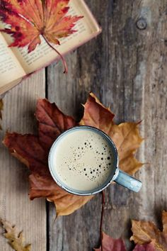 Coffee and Fall Leaves by Ruth Black - Coffee, Fall - Stocksy United . - Coffee and Fall Leaves by Ruth Black – Coffee, Fall – Stocksy United … – # - October Wallpaper, Fall Wallpaper, Autumn Leaves Wallpaper, Autumn Coffee, Autumn Cozy, Autumn Tea, Autumn Rain, Autumn Nature, Fall Winter