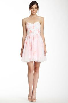Rubber Ducky Pink Floral Party Dress by Rubber Ducky on @HauteLook