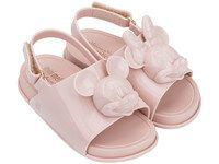 18bb30d5f Mini Melissa Beach Slide + Disney (Rosa) Armário De Sapatos, Roupas De Bebê