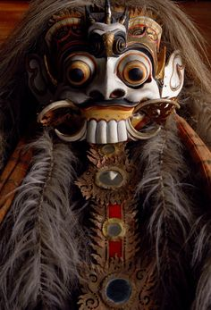 Rangda mask, circa 1950 from our collection. Bali, Indonesia. Blogged below. http://www.theblackthornorphans.com/