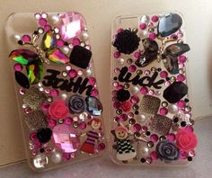 iPhone case 5 & iPhone 4 all over bling !