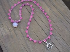 Pink on Pink Star of David Little girl Chanukah by wandandwear, $10.00