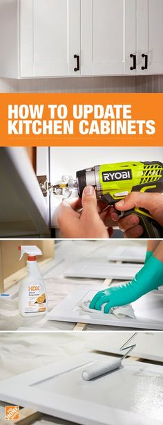 One way to dramatically improve the look of your kitchen is to update the cabinets with new paint. This step-by-step will walk you through how to properly detach, prime, paint, and re-attach your cabinets to give your whole kitchen a more modern look. Click through to The Home Depot blog to learn more.