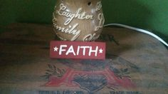 Faith Hand Painted Wood Shelf Sitter by SignsandDesignsbyAMA on Etsy