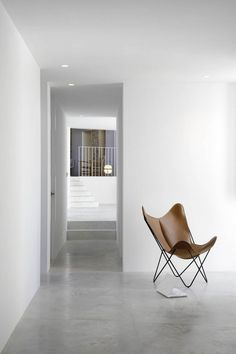 "the BKF chair (aka Butterfly chair) was designed by the Austral Group, in Buenos Aires, Argentina in The partners of the group were Antonio Bonet, Juan Kurchan and Jorge Ferrari Hardoy, so the chair was named ""BKF"" after them. Minimalist Home Decor, Minimalist Interior, Minimalist Bedroom, Modern Minimalist, Rustic Contemporary, Contemporary Furniture, Interior Architecture, Interior Design, Interior Decorating"
