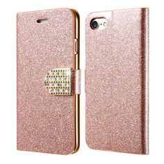 iPhone 7 Plus Leather Case Fashion Bling Glitter Diamond Crystal Cases For Apple iPhone 7 For iPhone 7 Plus Wallet Cover Bag