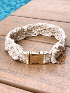 Diy Dog Collar, Cat Collars, Plush Cosmetics, Collar Macrame, Cordon En Cuir, Hardware, Cat Accessories, Metal Buckles, Leather Cord