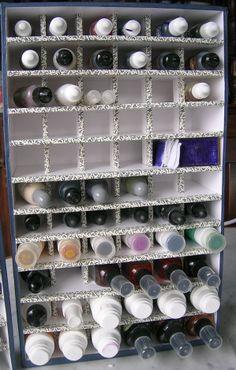 homemade ink bottle storage - Scrapbook.com