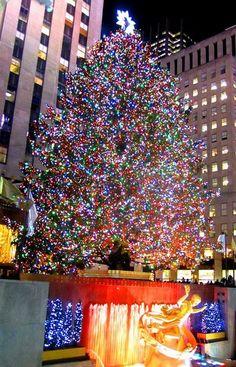 christmas in new york city rockefeller center no 9 8x10 fine art photograph new