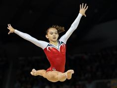 Emily Schild of the United States competes on the floor