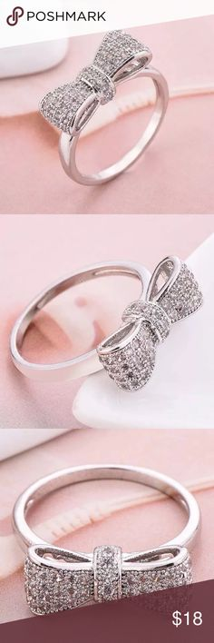 925 Sterling Silver Crystal Ring Crystal Gold Filled Necklace Jewelry Rings