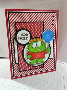 "airbornewife's stamping spot: SSSC201 ""BIG SMILE"" Monster card *with measurements"