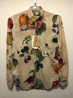 Paul-Harnden-Fruit-Print-Shirt-100-Authentic-MADE-IN-SCOTLAND