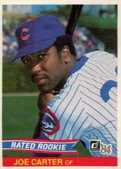 d88ed98de 1984 Donruss Joe Carter Chicago Cubs Baseball