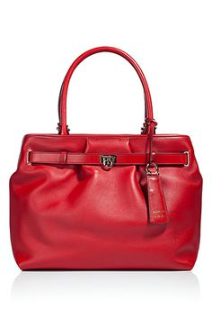 Salvatore Ferragamo Red Leather Bag...if only I had $1,116 just laying around...