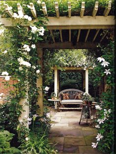 An Arbor Sitting area.lush and natural