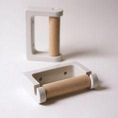 Koizumi Studio Porcelain Toilet Roll Holder from Japan