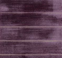 Landsbury Velvet Upholstery Fabric Luxurious, contemporary velvet with delicate horizontal stripe in Purple. Suitable for occasional domestic upholstery.
