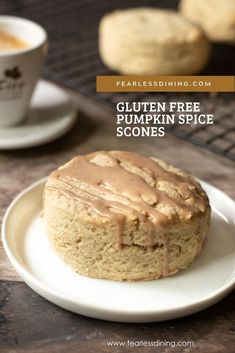 Gluten Free Scones, Gluten Free Sweets, Gluten Free Baking, Homemade Desserts, Dessert Recipes, Pie Recipes, Dinner Recipes, Gluten Free Pumpkin, Pumpkin Recipes