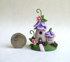 Miniature Whimsical Fairy Blossom House OOAK by Etsy seller ArtisticSpirit.
