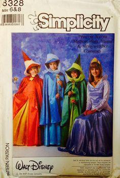 RARE Simplicity 8328 Walt Disney Sleeping Beauty Costume UNCUT by Lonestarblondie