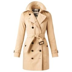 Burberry The Sandringham Mid-Length Heritage Trench Coat ($1,795) ❤ liked on Polyvore featuring outerwear, coats, beige coat, trench coat, beige trench coat, belted trench coat and slim coat