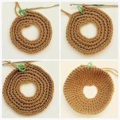 Tutorial: Donas a Crochet Crochet For Boys, Love Crochet, Irish Crochet, Crochet Motif, Diy Crochet, Crochet Crafts, Crochet Baby, Crochet Projects, Crochet Cupcake