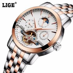 49.99$  Watch here - http://aiv6f.worlditems.win/all/product.php?id=32791137956 - 2016 Men's Luxury Watches Top Brand LIGE Sport Watch  Gold Clock Mechanical Automatic Tourbillon Wrist Watch relogio masculino