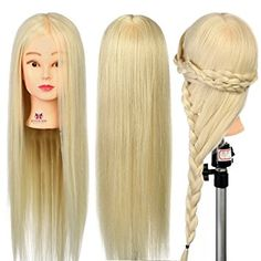 Neverland Beauty 26 Inch 30% Real Hair Hairdressing Cosmetology Training Head Blonde… Review