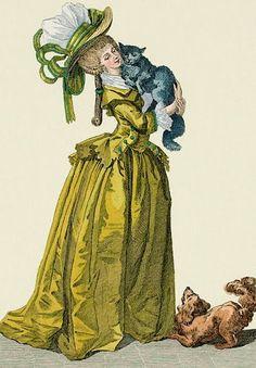 1780's French fashion illustration