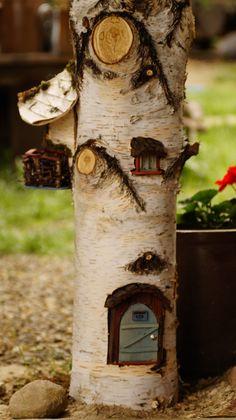 DIY początek projekty domku w pniaku brzozy :) #Fairytailhouse #Dollyhouse #SaveHomeElves