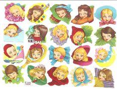 CROMOS TROQUELADOS ANTIGUOS-RAFAEL CASTILLEJO-ZARAGOZA Mermaid Dolls, Free Prints, Copic, Vintage Paper, Paper Cutting, Nostalgia, Decoupage, Shabby, Printables