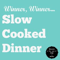 Slow cooker meals for appetizers, lunch, dinner, and dessert / from www.queenofthelandoftwigsnberries.com