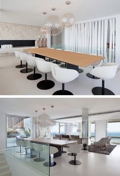 This dining room is spacious enough to fit a large 12-seater dining table.