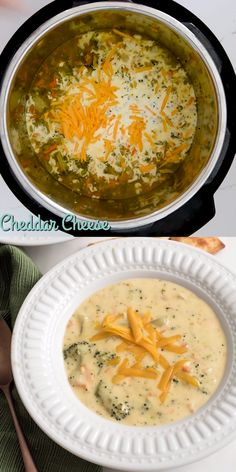 The Best Instant Pot Broccoli and Cheese Soup   Easy Soup Recipe