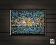 Hand-Painted Flag of Argentina Argentina's by ArtForLoft on Etsy