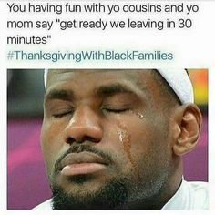 #LOL when you was a kid. Can they spend the night.  #ThanksgivingWithBlackFamilies