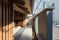 A wooden structure and hand-built joinery are left exposed throughout the interior of this compact house in Japan by architecture studio Hitotomori Modern Japanese Architecture, Japanese Modern, Japanese House, Beautiful Architecture, Interior Architecture, Interior Design, Plywood Interior, Tokyo Design, Compact House