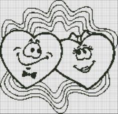 Loom Patterns, Cross Stitch Patterns, Cross Stitch Heart, White Crosses, Stitch 2, Plastic Canvas Patterns, Filet Crochet, Le Point, Loom Beading