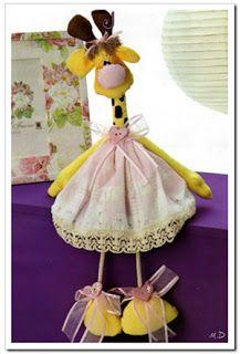 Criando Artes: Girafa de tecido com molde