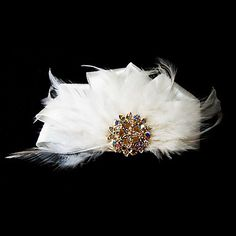 for me!! Gorgeous Satin With Feather/Rhinestones Wedding Bridal Headpiece – USD $ 4.99